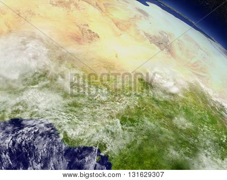 Niger And Nigeria From Space