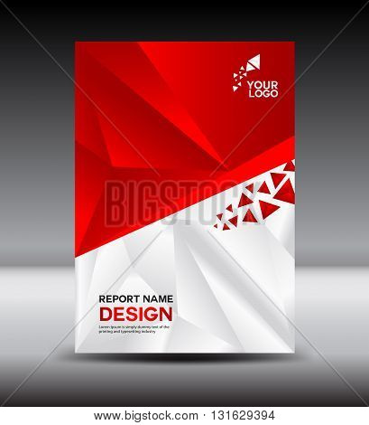 Red and White Cover design and Cover Annual report vector illustration booklet poster