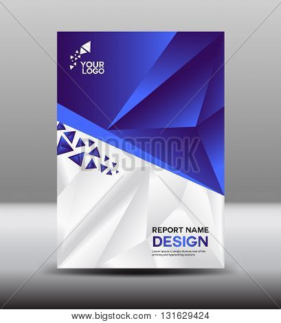 Blue Cover design and Cover Annual report vector illustration booklet poster