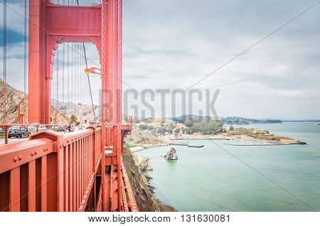 San Francisco, Ca, Eua - July 01 2015: Golden Gate Bridge, San Francisco, California, Usa.