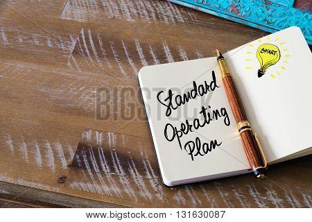 Handwritten Text Standard Operating Plan