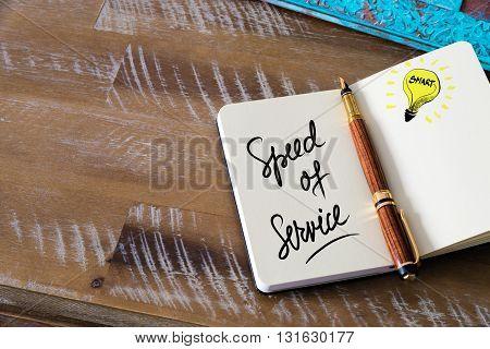 Handwritten Text Speed Of Service