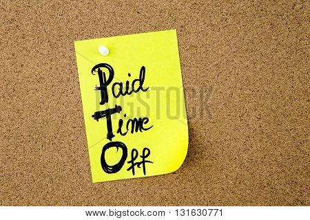 Business Acronym Pto Paid Time Off
