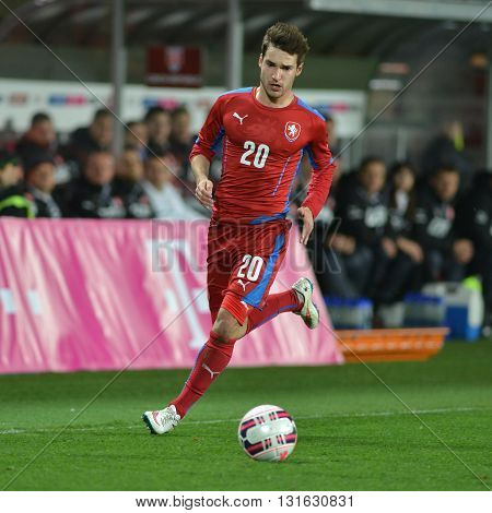PRAGUE 27/03/2015 _ Michal Travnik. Friendly match Czech Reublic U21 - England U21.