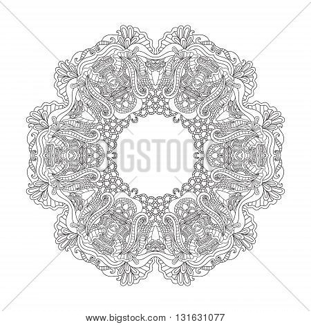 Mandala. Round Ornament.Vintage decorative elements. Oriental pattern, vector illustration. Islam and Arabic, and Indian and turkish and pakistan, and chinese, ottoman motifs.
