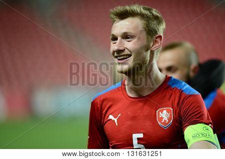 PRAGUE 31/03/2015 _ Capitain of Czech U21 team Jakub Brabec. Friendly match Czech Reublic U21 - Portugal U21