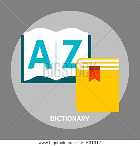 Dictionary book flat icon. Education language concepts in flat style