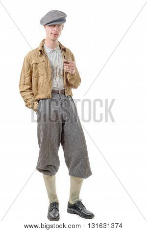a young man retro style 40 vintage clothes