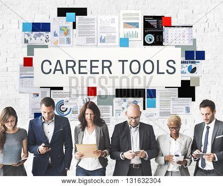 Career Tools Recruiting Profession Concept