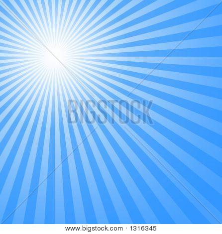 Azul frío el sol