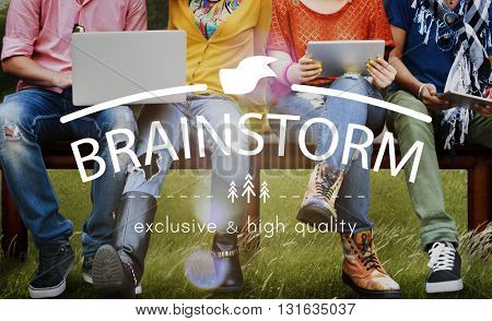 Brainstorm Sharing Meeting Ideas Planning Strategy Concept