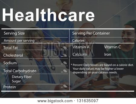 Healthcare Ingredients Wellness Wellbeing Nutrition Concept