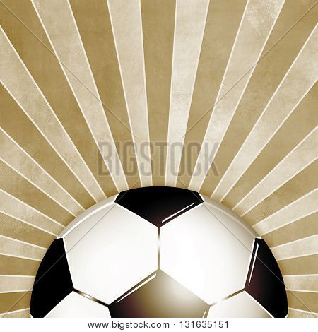 Football background retro brown with rays - vintage soccer flyer