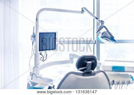 equipment in modern dentist clinic
