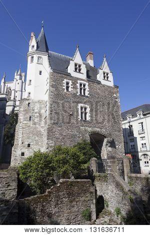 Building of Saint Pierre gate Nantes Pays de la Loire France