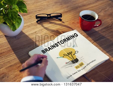 Brainstorming Ability Creating Creative Ideas Concept