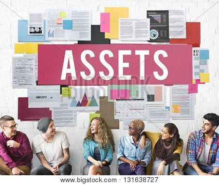 Assets Accounting Benefit Bonus Budget Value Concept