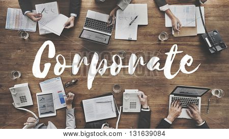 Corporate Business Company Organization Management Concept