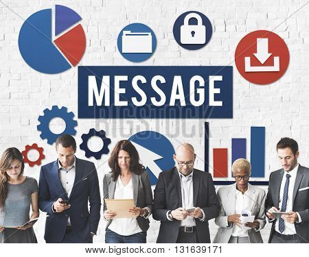 Message Data Business Technology Diversity Concept
