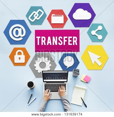 Transfer Electronic Banking Payment Online Concept