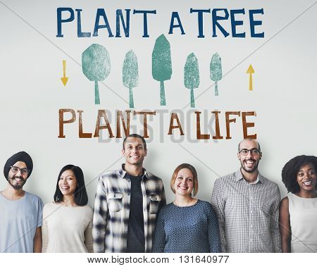 Plant A Tree Life Ecology Concept
