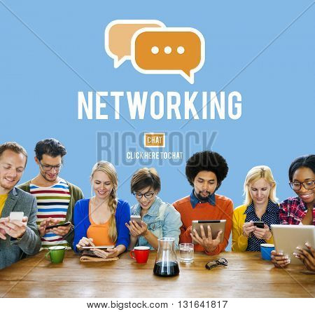 Networking Connection Global Communications Online Concept