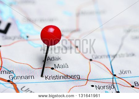 Kristineberg pinned on a map of Sweden