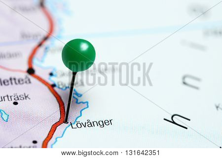 Lovanger pinned on a map of Sweden