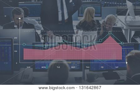 Area Graph Chart Statistics analytics Concept