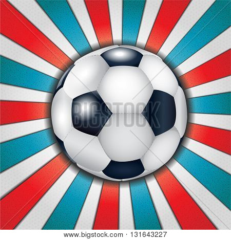 Football ball on abstract background. Illustration 10 version.