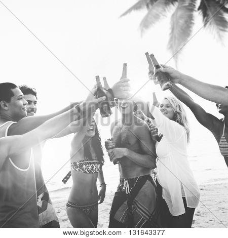 Party Celebration Friendship Beach Festival Concept
