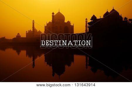 Destination Direction location Navigation Route Concept