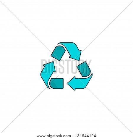 Recycling symbol vector logo isolated on white background recycle sign icon