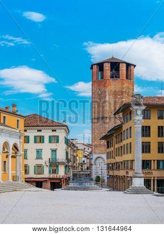 Square of Freedom, Piazza della Liberta, Friuli Venezia Giulia region, Udine, Italy, March of 2016