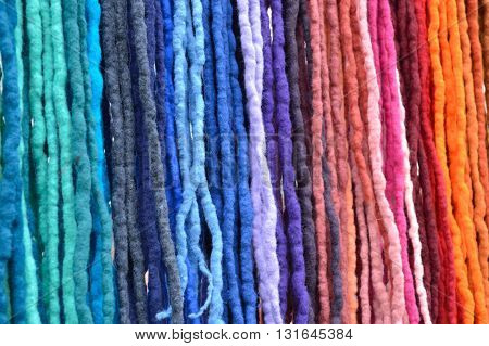colorful wool threads - Closeup of a pattern