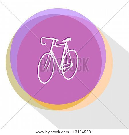bicycle. Vector icon.