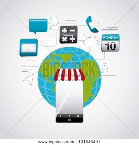 app store design globe, vector illustration eps10 graphic