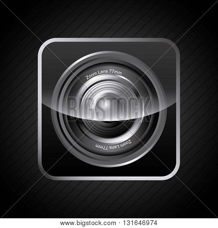 app store design camera lens, vector illustration eps10 graphic