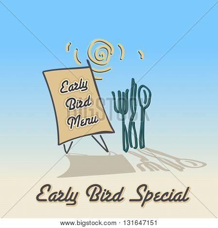 Still Life Menu Board Advertising Sign vector illustration