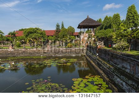 A section of the Kerta Gosa or the Royal Court of Justice Bali Indonesia
