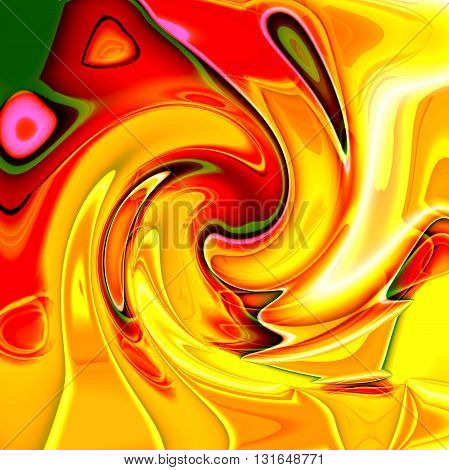 Abstract coloring horizon gradients background with visual lens flare and twirl effects