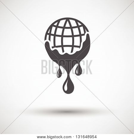 Planet With Flowing Down Water Icon