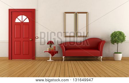 Red And White Home Entrance