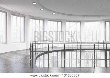 Interior With Railing