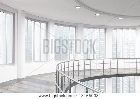 Railing And City View