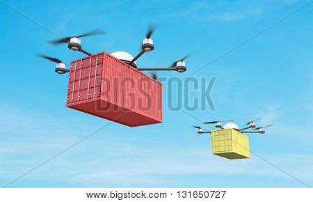 Two Quadrocopters With Cargo