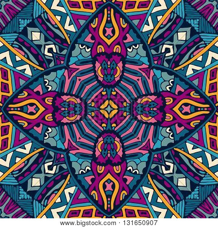 Abstract geometric multicolor ethnic seamless pattern ornamental