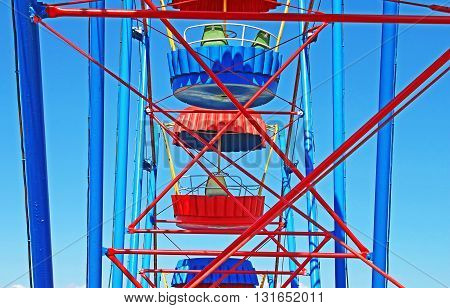 Attraction - Big wheel in Sevastopol in Historical Parkway, Ukraine