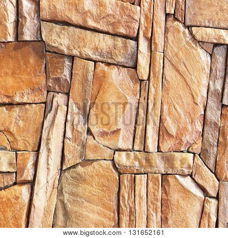 The modern slab slate stone wall background