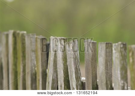 old style wooden fence background close up
